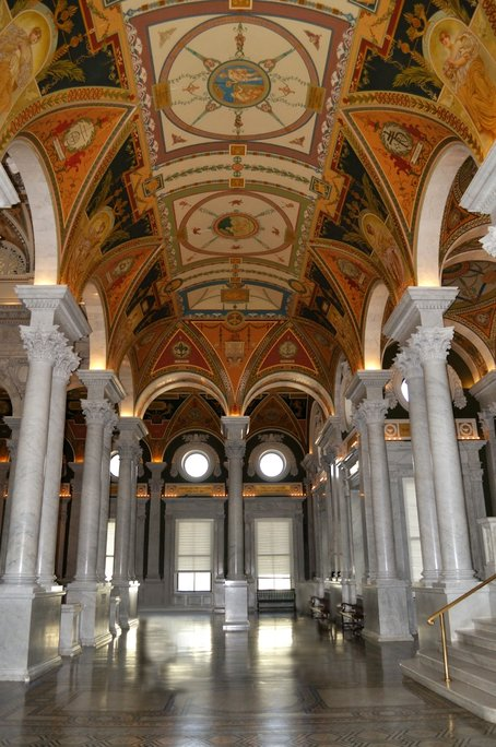 View from inside the Library of Congress